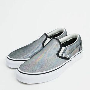 Vans Classic Slip On Sneakers: Prism Suede/Black